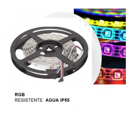 5 MTS TIRA LED RGB IP55 12v...