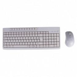 Kit teclado + raton blanco...