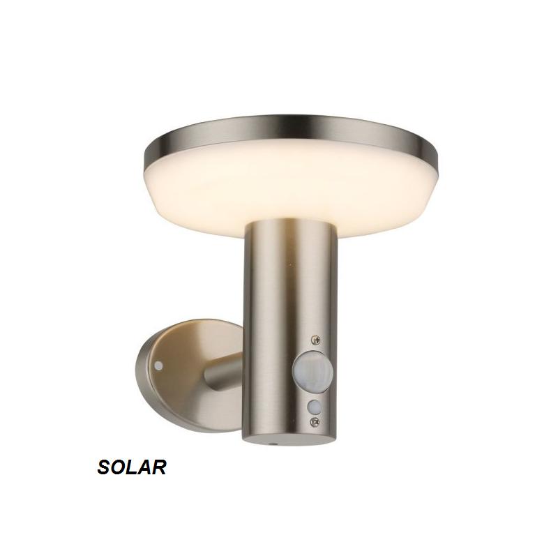 aplique pared solar / aluminio / con sensor de movimiento